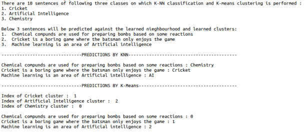 Text classification and clustering